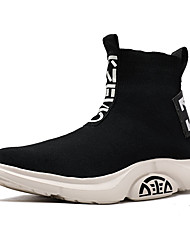 cheap -Men's Tissage Volant Fall / Spring & Summer Sporty / Casual Athletic Shoes Running Shoes / Walking Shoes Breathable Mid-Calf Boots Black and White / Black / Yellow