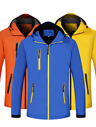cheap -Men's Women's Full Zip Hoodie Jacket Running Jacket Long Sleeve Reflective Waterproof Windproof Running Walking Jogging Sportswear Jacket Athleisure Wear Top Red Yellow Orange Blue Navy Blue