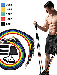 cheap -Resistance Band Set Exercise Resistance Bands 11 pcs 5 Stackable Exercise Bands Door Anchor Legs Ankle Straps Sports TPE Home Workout Pilates CrossFit Strength Training Muscular Bodyweight Training