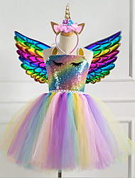cheap -Unicorn Costume for Girls Baby Unicorn Tutu Dress Outfit Princess Party Costume with Headband and Wing