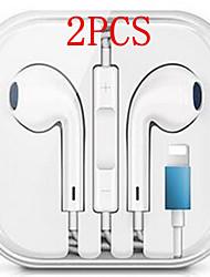 Недорогие -2шт проводной гибридный стерео наушники-вкладыши для iphone 7 8 plus x xr xs max наушники с микрофоном и проводным управлением звуком