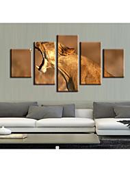 Недорогие -5 штук печать декоративной живописи масляной живописи дома декоративные настенные росписи на холсте, печать животных природы