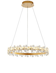 cheap -1-Light Nordic Style Crystal Simplicity LED Chandeliers Modern Gold 60cm laps Living Room Bedroom Restaurant Pendant Lights