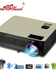 cheap -HTP M5 LCD Home Theater Projector / USB 2.0 LED Projector 3000 lm Support 1080P (1920x1080) 42-200 inch Screen