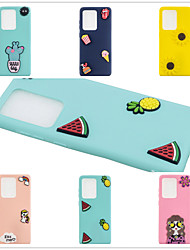 cheap -Case For Samsung Galaxy S9 / S9 Plus / S8 Plus Frosted / DIY Back Cover Solid Colored / 3D Cartoon TPU