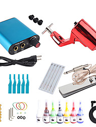 cheap -Tattoo Machine Starter Kit - 1 pcs Tattoo Machines with tattoo inks, Antimicrobial, Professional, Kits Metal Power Supply Case Not Included Motor Tattoo Machine
