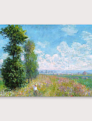 cheap -IARTS®Hand Painted Field Oil Painting   with Stretched Frame For Home Decoration