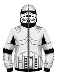 cheap -Kids Boys' Active Punk & Gothic Geometric Color Block Plaid Regular Suit & Blazer White