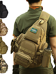 cheap -30 L Hiking Sling Backpack Military Tactical Backpack Rain Waterproof Quick Dry Wear Resistance High Capacity Outdoor Hunting Hiking Cycling / Bike Nylon Army Green Camouflage Brown