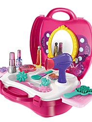 cheap -Pretend Makeup Set Pretend Makeup Play Furniture Family Bolster Furnishing Articles Hand-made Parent-Child Interaction Plastic Shell Child's Toddler All Toy Gift 21 pcs