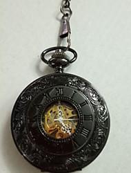 Недорогие -Универсальные Карманные часы Механические, с ручным заводом Титановый сплав Черный Творчество Повседневные часы Аналоговый На каждый день - Черный / Нержавеющая сталь