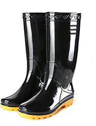 cheap -Men's PVC Spring & Summer Boots Waterproof Mid-Calf Boots Black