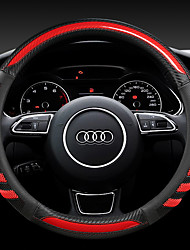 cheap -Audi Q5 Q7 A4 A6 A8 fashion Car Steering Wheel Covers PU Leather 38cm Breathable Anti Slip For universal Four Seasons Auto Accessories