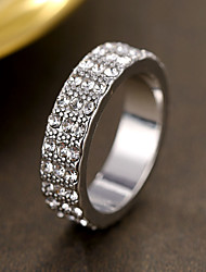 cheap -Women's Ring Sapphire 1pc Silver Platinum Plated Alloy Stylish Daily Jewelry Cute