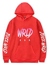 cheap -Inspired by Cosplay Juice Wrld Cosplay Costume Hoodie Pure Cotton Print Printing Hoodie For Men's / Women's