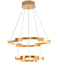 cheap -OYLYW 2-Light 60 cm Circle Design Pendant Light Aluminum Acrylic Brushed / Electroplated LED / Modern 110-120V / 220-240V