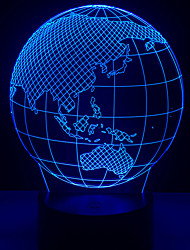 cheap -New World Telluride Globe 3D LED Light World Map 7 Color Changing Mood Light Bulb Boy Desk Decoration Device Dream Light Gift Toy