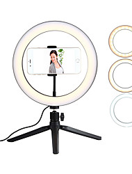 cheap -Net Red Live Fill Light TikTok Light Youtube Video Shooting Mobile Phone Bracket 10 Inch Tripod Ring Light