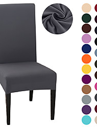cheap -Chair Cover Strech Dining Chair Slipcover High Stretch Black/Gray/White Furniture Protector Spandex Removable Washable Chair Seat Protector Cover for Home Party Hotel Wedding  Ceremony