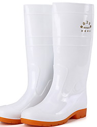cheap -Men's PVC Spring & Summer Boots Waterproof Mid-Calf Boots White