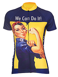cheap -We Can Do It Women's Motorcycle Clothing Motorcycle Suit Motorcycle Jersey short sleeve Polyester Flexible Breathable fast dry