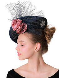 cheap -Headpieces Wedding Polyester Fascinators / Hats / Headwear with Cap / Floral / Flower 1 Piece Wedding / Party / Evening Headpiece