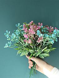 cheap -1pcs Plumeria Artificial Flower Wedding Decoration Green Plant INS Wind