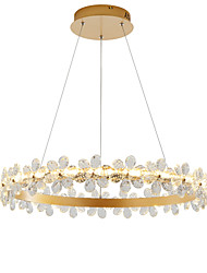cheap -1-Light Nordic Style Crystal Simplicity LED Chandeliers Modern Gold 80cm Circle Design Living Room Bedroom Restaurant Pendant Lights