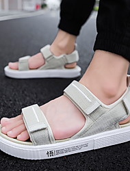 cheap -Men's Cotton Spring & Summer Sporty / Preppy Sandals Walking Shoes Breathable Black / Black and White / Beige