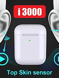 cheap -LITBest I3000 TWS True Wireless Earbuds Wireless Bluetooth 5.0 Stereo with Volume Control with Charging Box Auto Pairing 1 to 1 Replica for Mobile Phone