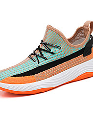cheap -Men's Tissage Volant Fall / Spring & Summer Sporty / Casual Athletic Shoes Running Shoes / Walking Shoes Breathable Color Block Purple / Red / Orange