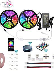 cheap -KWB WIFI Smart LED Strip Lights Kit Waterproof 5050 RGB 10M 2*5M 300 LEDs  Phone Controlled LED Strip KitTimer LED Tape LightWorks with Android iOS and Google Home and 12V 6A Power Supply