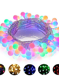 cheap -1pcs 10m 100LED 220V LED Ball String Lights Christmas Bulb Fairy Garlands Outdoor For Holiday Wedding Home New Year's Decor Lamp