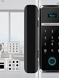 cheap -Single/Double Open Door Fingerprint Lock Fingerprint & Touchscreen Smart Lock Digital App Glass Door Lock(WF-012)