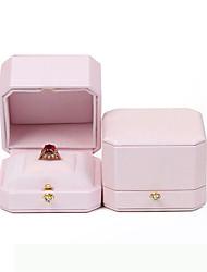 cheap -Jewelry Displays - Leather Light Pink 9 cm 9 cm 7 cm