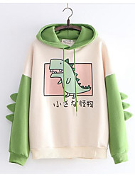 cheap -Women's Cute Hoodie - Cartoon Green One-Size
