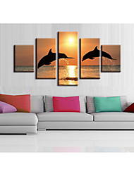 Недорогие -5 штук печать декоративной живописи масляной живописи дома декоративные настенные росписи картины на холсте принты животных природы