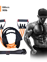 cheap -Resistance Band Set 9 pcs 3 Stackable Exercise Bands Door Anchor Exercise Handles Sports Latex Home Workout Gym Exercise & Fitness Anti-Wear Strength Training Heavy Duty Muscular Bodyweight Training