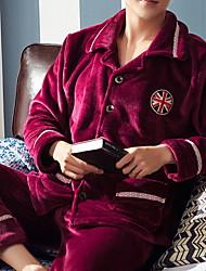 cheap -Men's Suits Nightwear Red White Light gray L XL XXL