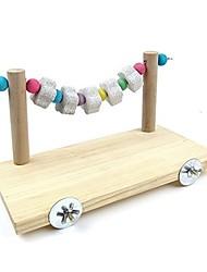 Недорогие -аксессуары для клетки деревянная платформа с игрушками для жевания лавовых выступов для мышей шиншилла крыса песчанка карликовый хомяк