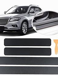 cheap -4 PCS Universal Car Door Sill Anti kick Stickers Scuff Anti Scratch Carbon Fiber Auto Door Sticker Car Accessories Small scraper