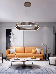 cheap -60 cm Circle Design Pendant Light Aluminum Circle Painted Finishes LED Modern 110-120V 220-240V