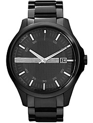 cheap -Men's Dress Watch Japanese Quartz Classic Style Genuine Leather Black 50 m Water Resistant / Waterproof Calendar / date / day Analog Casual Fashion - Black One Year Battery Life / Stainless Steel
