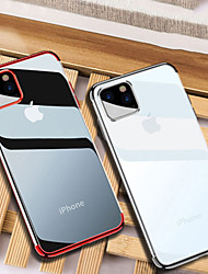 cheap -iPhone11Pro Max Electroplated Tpu Silicone Soft Phone Case XS Max Transparent Half Pack Anti-drop 6/7 / 8Plus Protective Cover