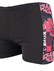 cheap -Men's Black Blue Brown Bottoms Swimwear Swimsuit - Geometric One-Size Black