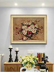 cheap -Framed Art Print Classical Rococo Style  Antique Golden Framed Flower Oil Painting