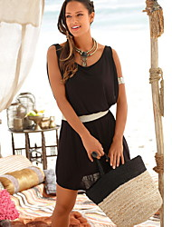 cheap -Women's Red Black Dress A Line Solid Color M L