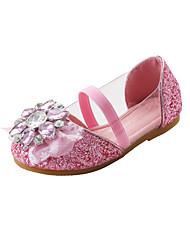 cheap -Girls' Comfort / Flower Girl Shoes PU Flats Little Kids(4-7ys) / Big Kids(7years +) Rhinestone / Sequin / Sparkling Glitter Gold / Silver / Blue Fall / Winter / Party & Evening