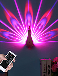 cheap -Peacock Projector Lamp Tiktok Star Light 7 Colors USB Rechargeable Peahen Wall Corridor Lights Kids Children LED Night Light For Room