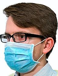Недорогие -100 pcs Лицевая маска Защита 3 слоя В наличии Ткань выдувной фильтр CE Сертификация Высокое качество Синий